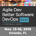 Agile Dev Better Software DevOps  Nov 13-18  Orlando