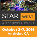 STAR West  Oct 2-7  Anaheim