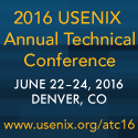 Usenix ATC  June 22-24 Denver