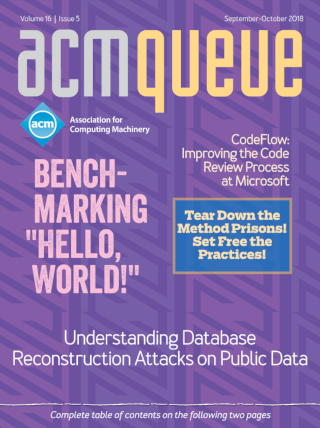 September/October 2018 issue of acmqueue magazine