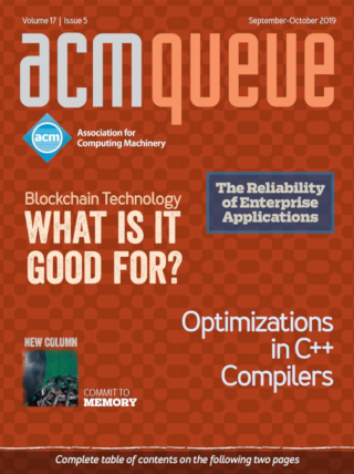 September/October 2019 issue of acmqueue magazine