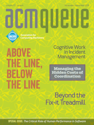 November/December 2019 issue of acmqueue magazine