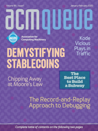 January/February 2020 issue of acmqueue magazine