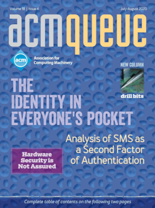 July/August 2020 issue of acmqueue