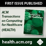 ACM Transactions on Computing for Healthcare (HEALTH)